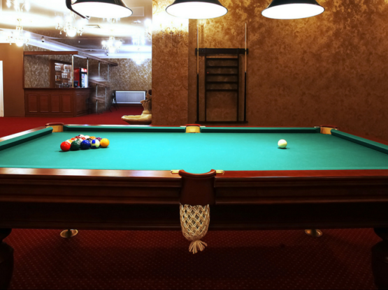 restored pool table ma